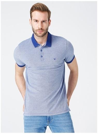 Wrangler Wrangler W7AFKHX1F_Polo T-shirt  Mavi